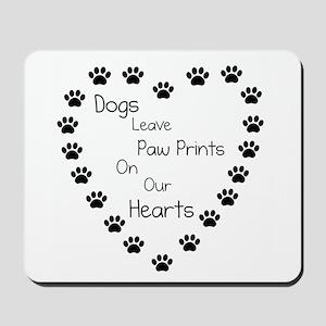 Dogs Leave Paw Prints 10 x 10 Mousepad