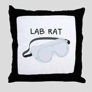 Lab Rat Throw Pillow