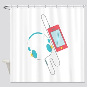 MP3 Player Shower Curtain