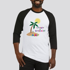 Life Begins at Retirement, Tropica Baseball Jersey