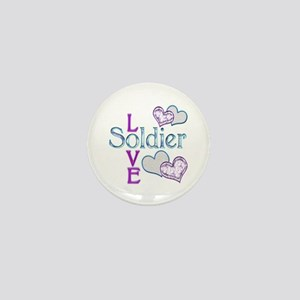 Soldier Love Mini Button