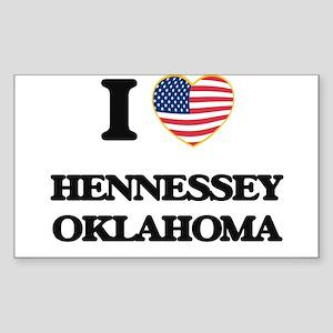 I love Hennessey Oklahoma Sticker