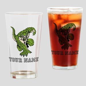 Alligator Mascot (Custom) Drinking Glass