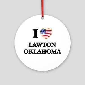 I love Lawton Oklahoma Ornament (Round)