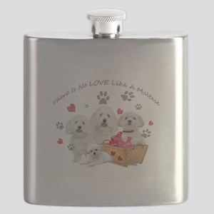 No Love Like A Maltese Flask