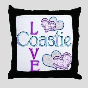 Coastie Love Throw Pillow