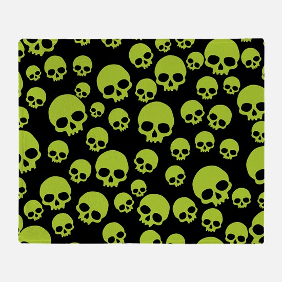 Unique Skulls Throw Blanket