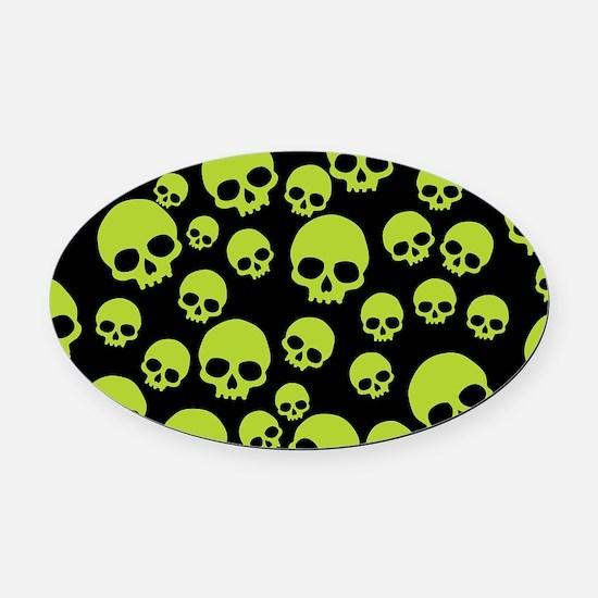 Cute Skulls Oval Car Magnet