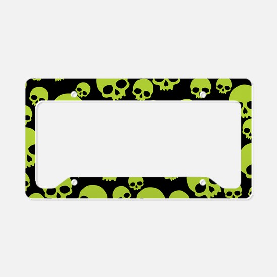 Cute Skulls License Plate Holder