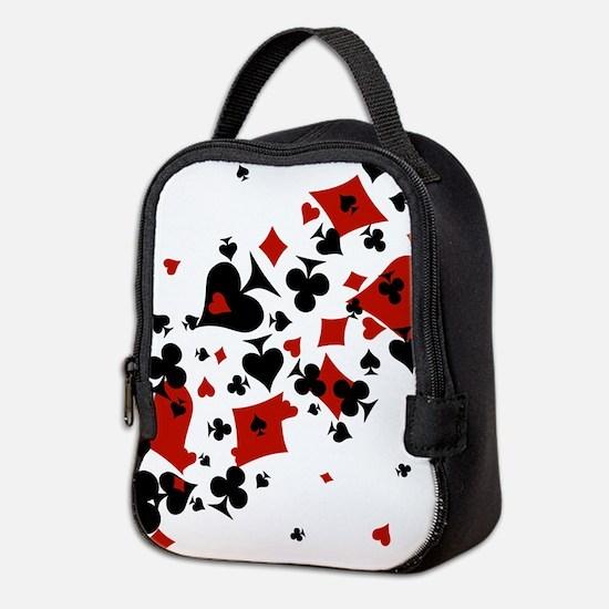 Cute Poker Neoprene Lunch Bag