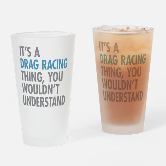 Drag Racing Thing Drinking Glass