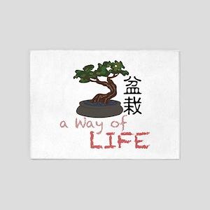 Bonsai A Way of Life 5'x7'Area Rug