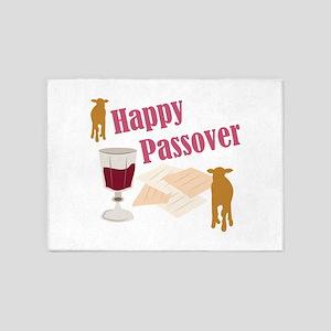 Happy Passover 5'x7'Area Rug
