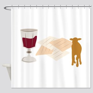 Passover Shower Curtain