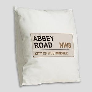 Abbey Road LONDON Pro Burlap Throw Pillow