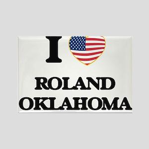 I love Roland Oklahoma Magnets