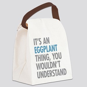 Eggplant Thing Canvas Lunch Bag