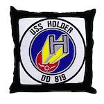 USS HOLDER Throw Pillow