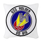 USS HOLDER Woven Throw Pillow