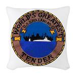 USS HOLLAND Woven Throw Pillow