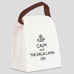 Keep Calm and The Dalai Lama ON Canvas Lunch Bag