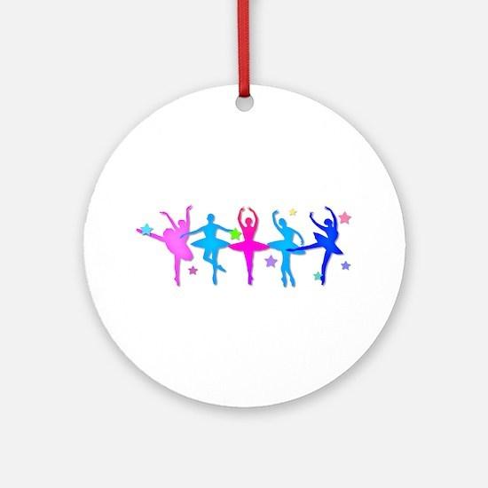Ballet Sillouettes Ornament (Round)