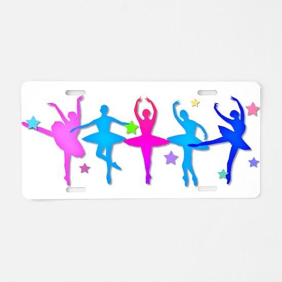 Ballet Sillouettes Aluminum License Plate