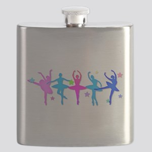 Ballet Sillouettes Flask