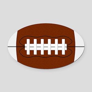 Football Oval Car Magnet
