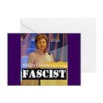 Clinton = Fascist Greeting Cards (Pk of 20)