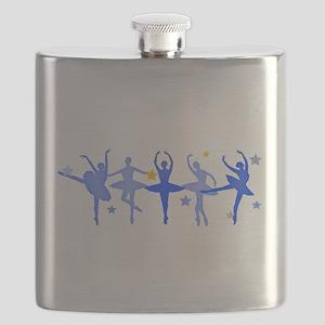 Blue Ballet Flask