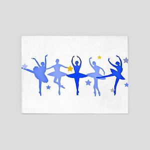 Blue Ballet 5'x7'Area Rug