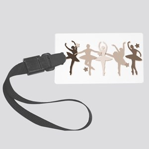 Sepia Dancers Large Luggage Tag
