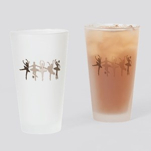 Sepia Dancers Drinking Glass
