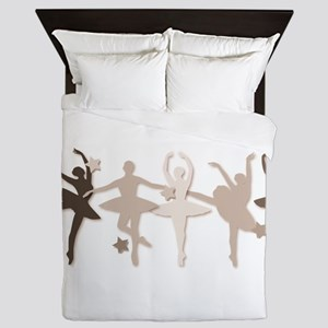 Sepia Dancers Queen Duvet