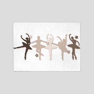 Sepia Dancers 5'x7'Area Rug