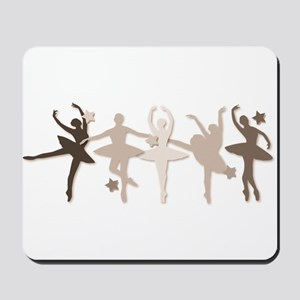 Sepia Dancers Mousepad