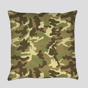 Green Camouflage Pattern Everyday Pillow