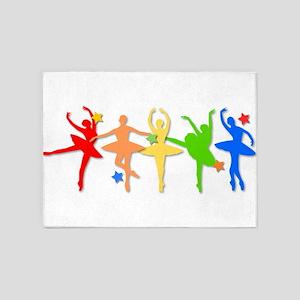 Rainbow Dancers 5'x7'Area Rug