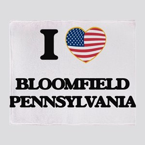 I love Bloomfield Pennsylvania Throw Blanket