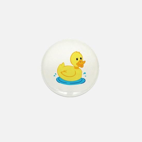 Yellow Duck Mini Button