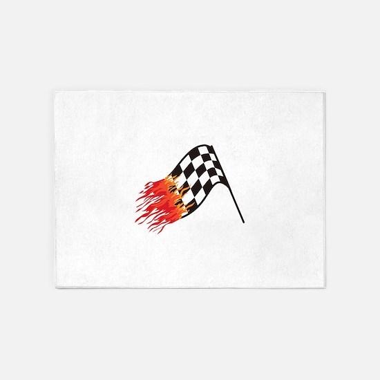 Hot Race Flag 5'x7'Area Rug