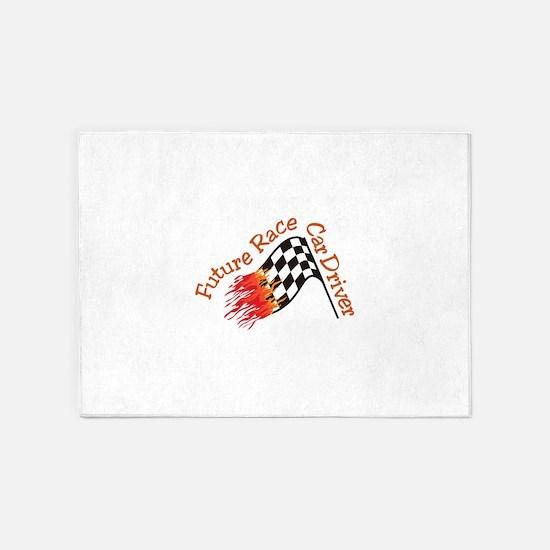 Future Racecar Driver 5'x7'Area Rug