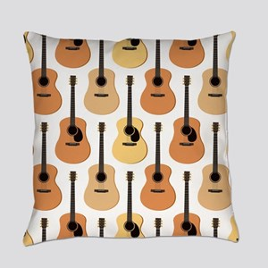 Acoustic Guitars Pattern Everyday Pillow