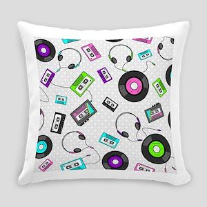 Retro Music Pattern Everyday Pillow