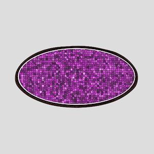 Purple Mosaic Glitter Patch
