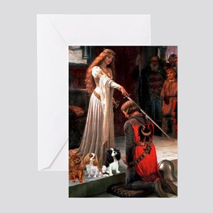The Accolade & Cavalier King Trio Greeting Cards (