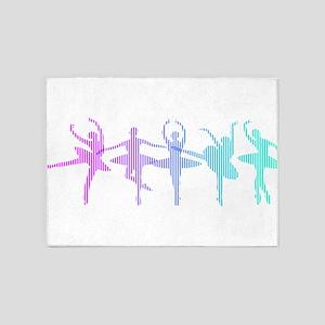 Ballet Lines 5'x7'Area Rug