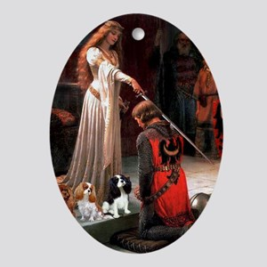 The Accolade & Cavalier King Trio Oval Ornament