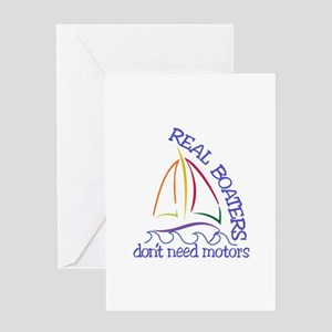 Real Boaters Greeting Cards